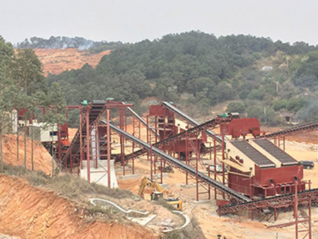 福建花岗岩石场生产线