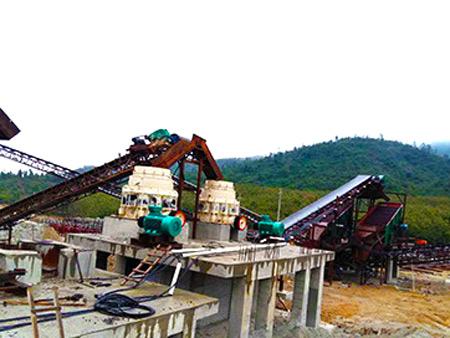 海南玄武岩石场生产线
